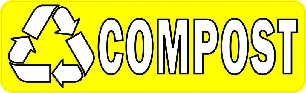 Stickertalk Yellow Compost Vinyl Sticker 10 Inches X 3 Inches In 2020 Vinyl Sticker Vinyl Compost