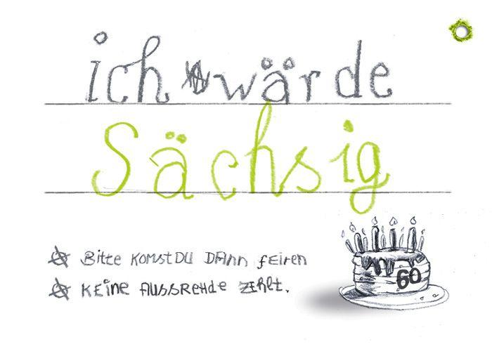 Einladung 60 Geburtstag Sachsig Von Cardlaan Auf Dawanda Com