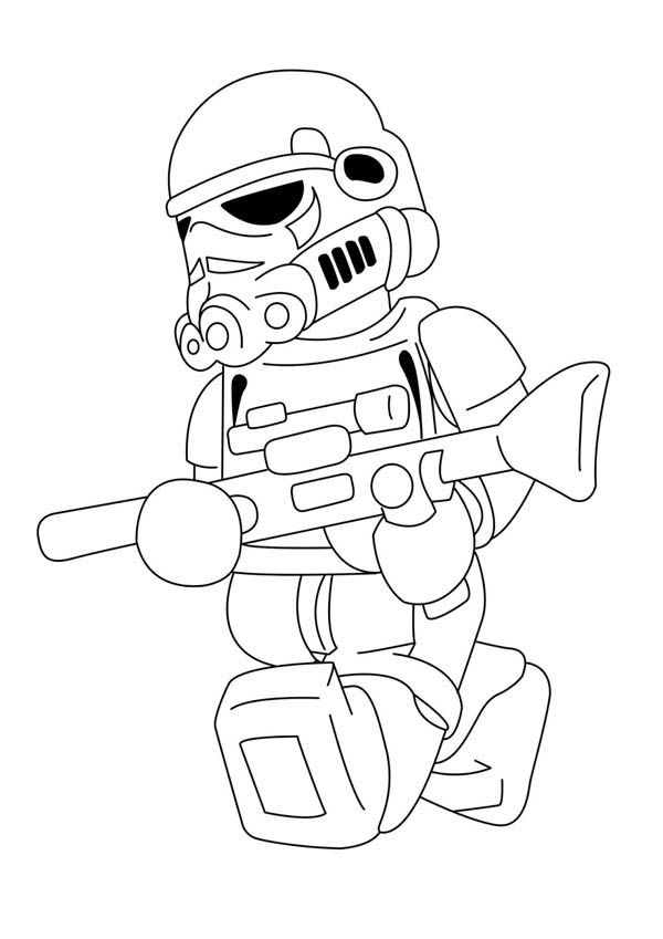 Lego Stormtrooper Coloring Page Coloring Sky in 2020