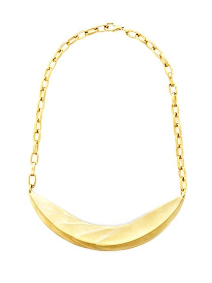 Gold Crescent Collar Necklace by Dean Davidson at Gilt
