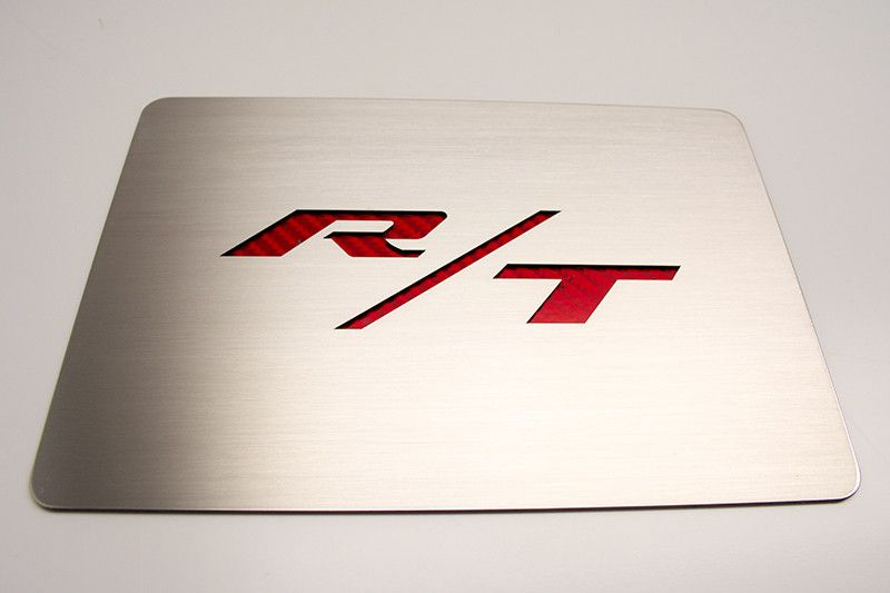 Challenger/Charger Brushed Fuse Box Cover Plate with R/T Lettering