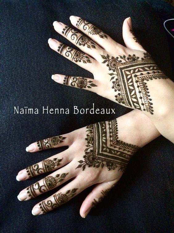 Henne Mains Tatouage Au Henne Naturel Avec Naima Henna Bordeaux