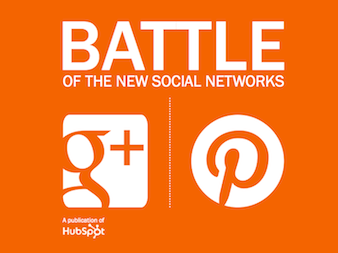 The battle is on! Pinterest VS Google Plus: check out HubSpot's ebook: http://bit.ly/battle-pin-g