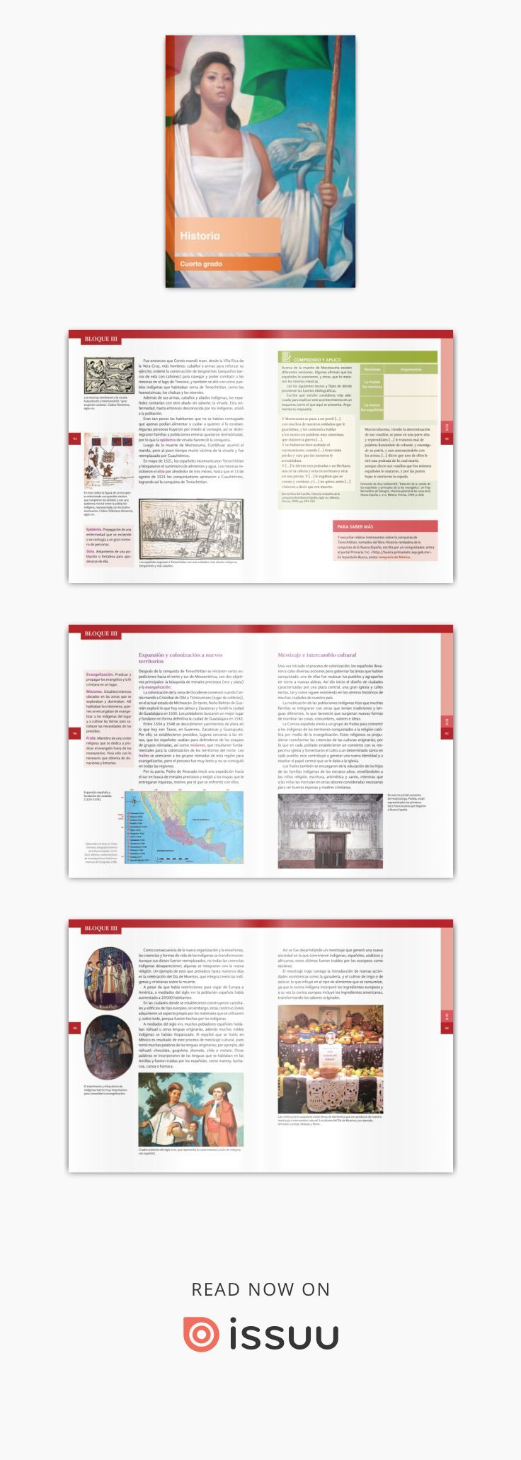 Primaria cuarto grado historia libro de texto | Historia | Pinterest