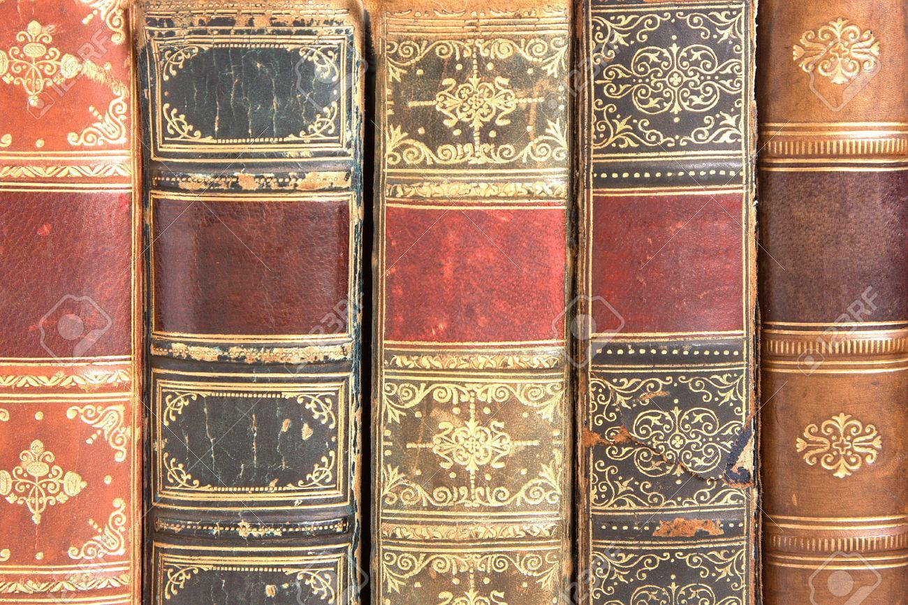 Old Leather Bound Book Spines Book Spine Leather Bound Books Ornate Books