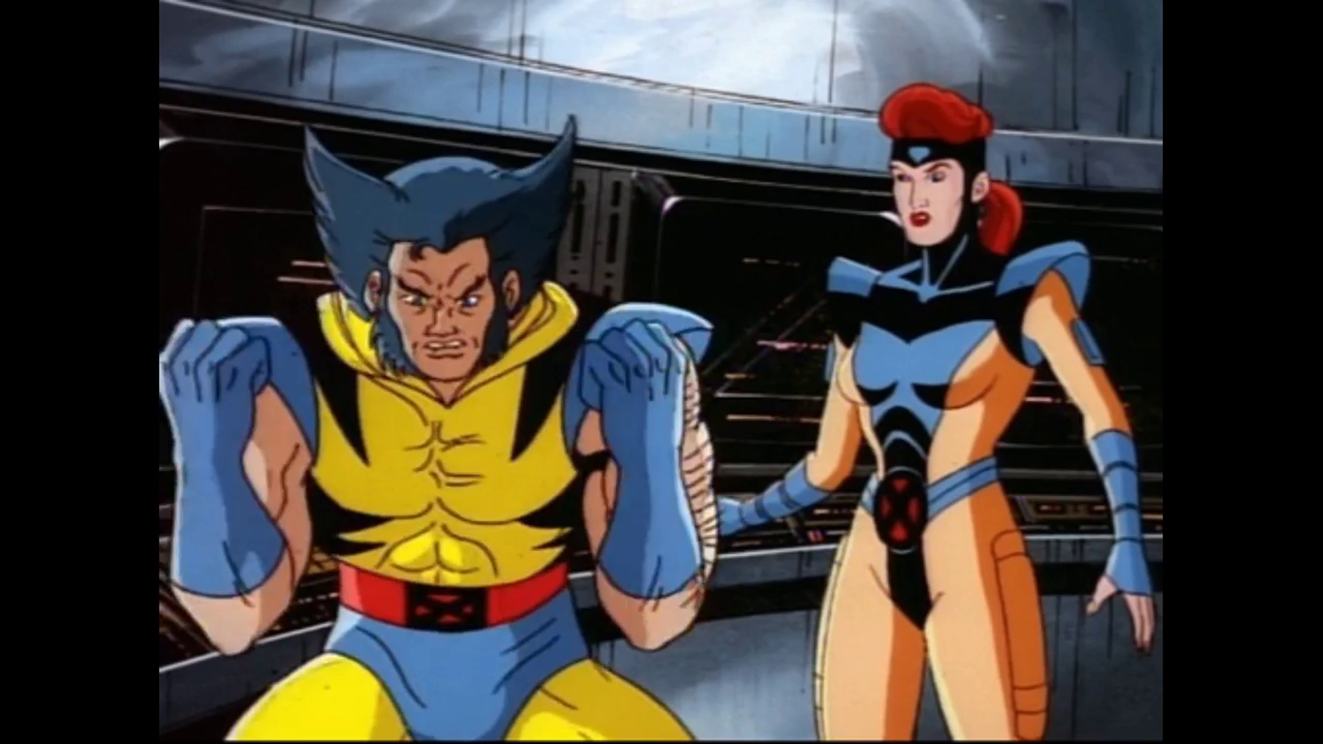 An Enraged Wolverine And Jean Grey In X Men The Animated Series Beauty And The Beast Episode Xmen In 2020 Wolverine And Jean Grey Wolverine And Jean Superhero