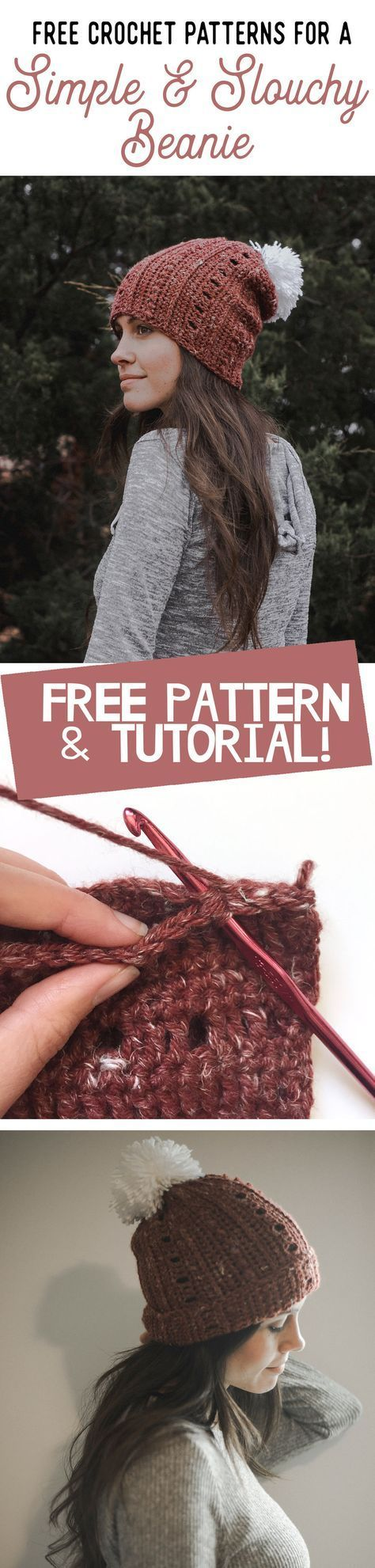 Free Crochet Pattern for a Super Simple & Slouchy Beanie | Aaa ...