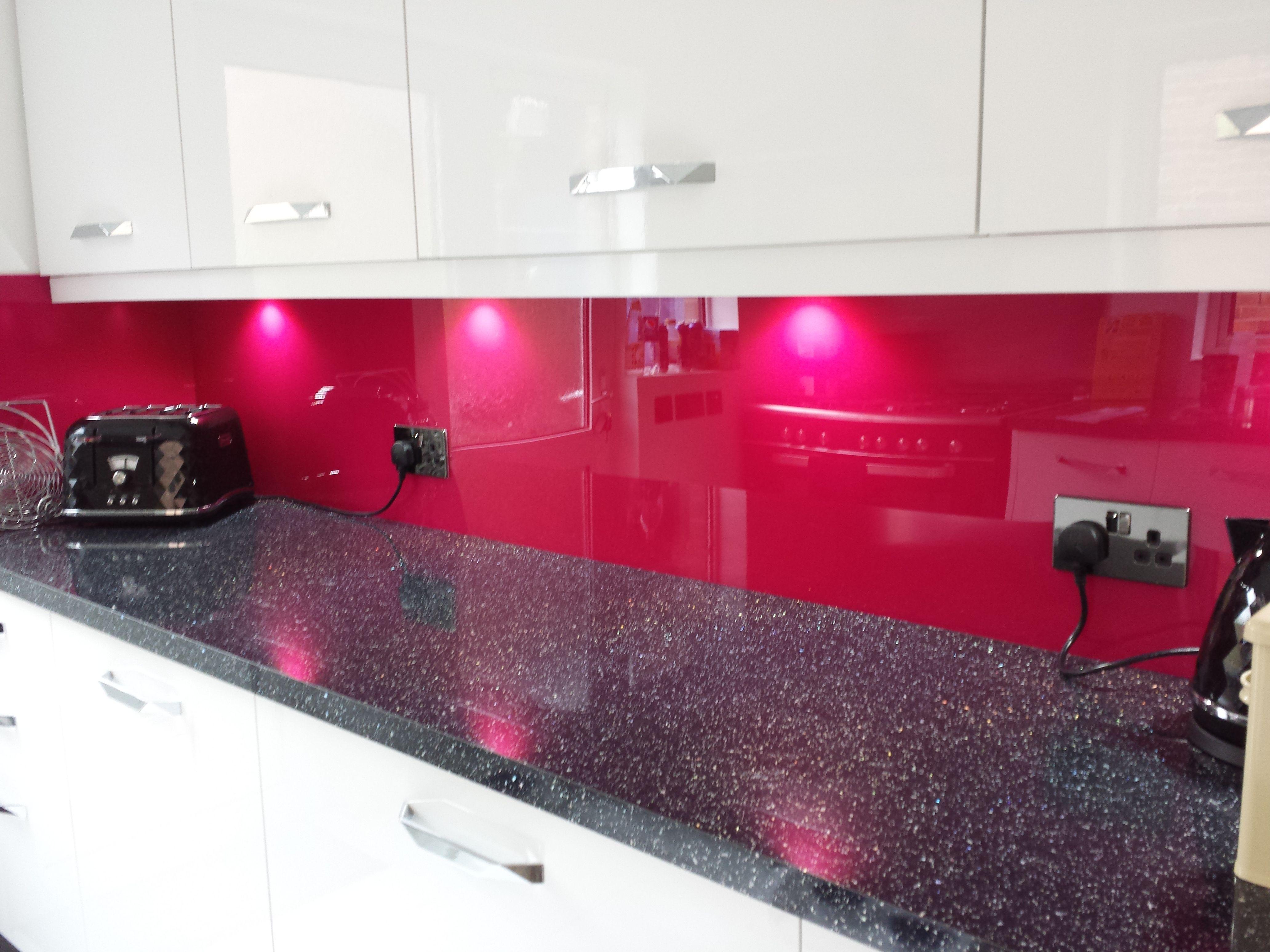 pink back painted glass kitchen splashback supplied and installed by dag inter ltd wwwdagintercom new home pinterest splashback kitchens and - Magenta Kitchen Design