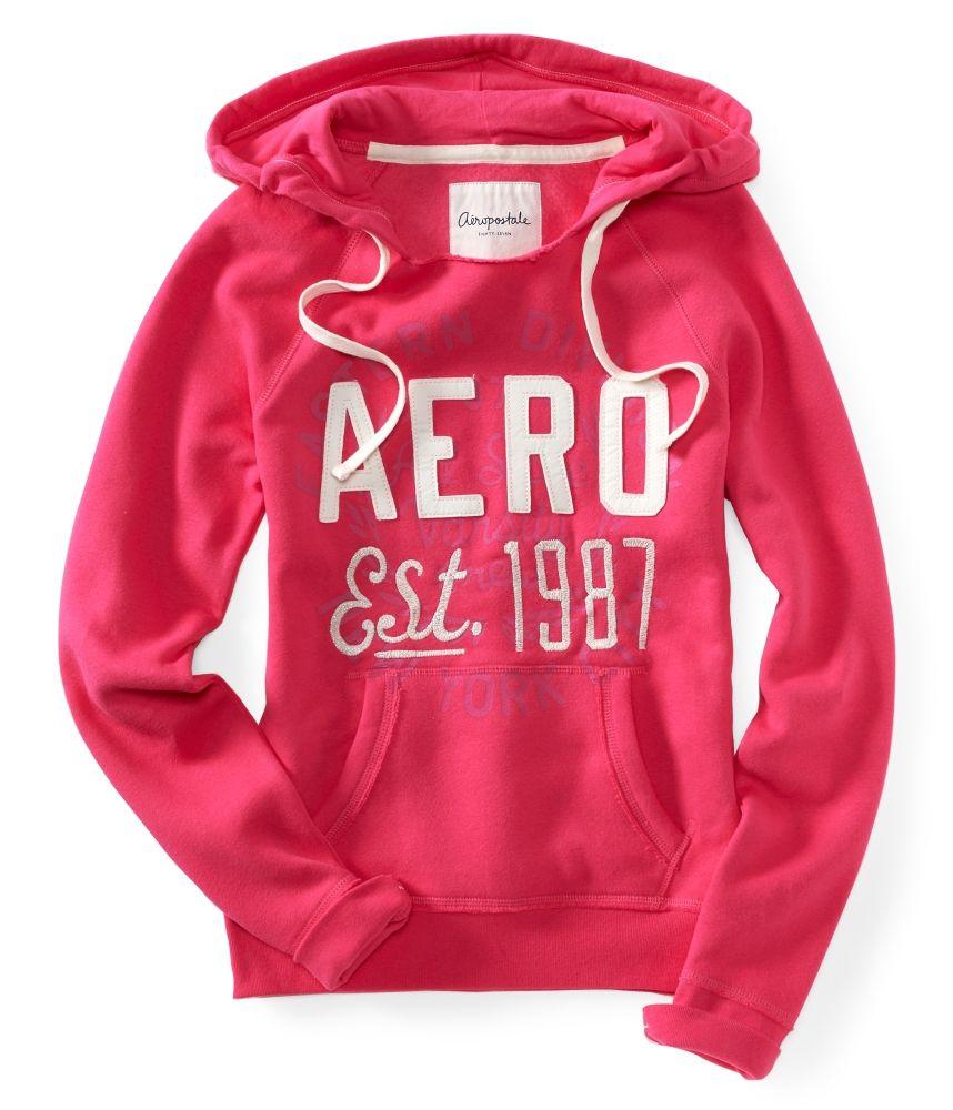 aeropostale womens girls aero est 1987 popover hoodie