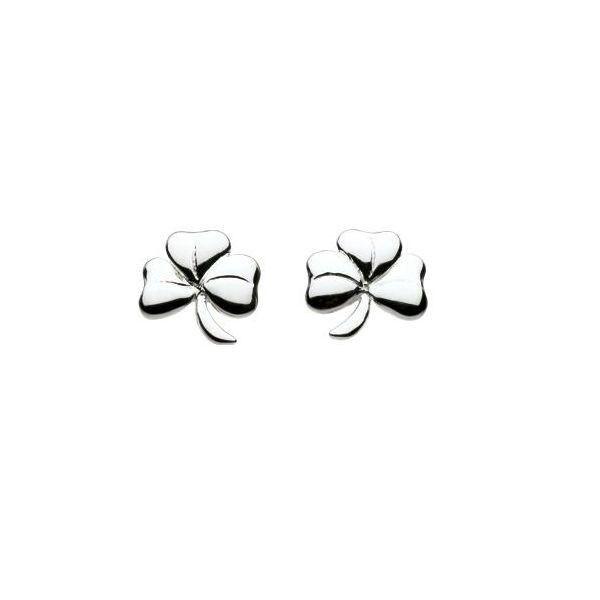 Shamrock Stud Earrings in Sterling Silver