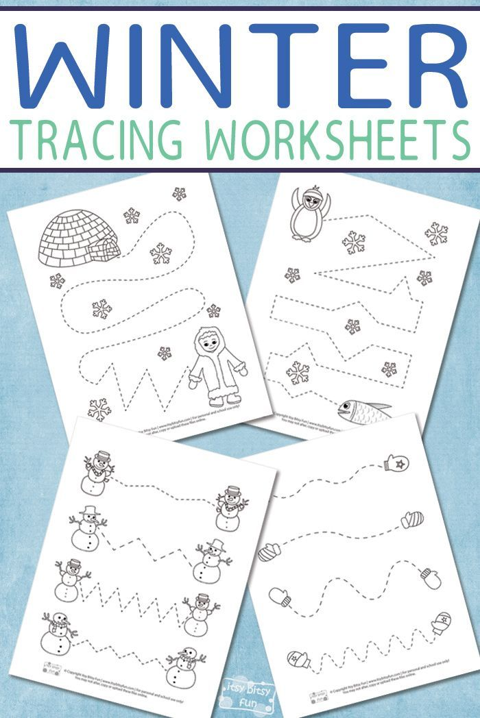 winter tracing worksheets for kids winter fun and learning winter activities for kids. Black Bedroom Furniture Sets. Home Design Ideas