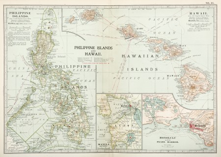 Philippine Islands And Hawaii Antique Print Map Room Map Map Print Asia Map