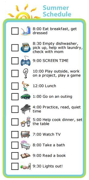 Week 19 Learning Balance With A Summer Schedule Chores Summer