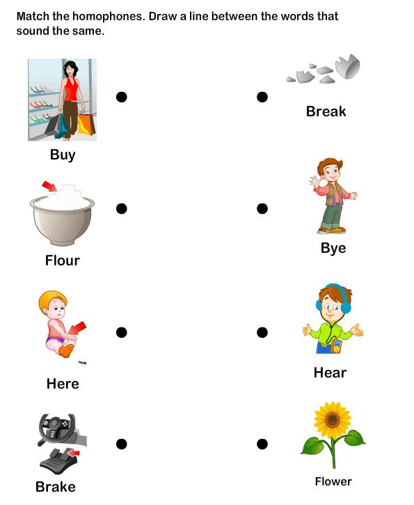 Homophone Word Worksheet2 eslefl Worksheets kindergarten – Interactive Worksheets for Kindergarten