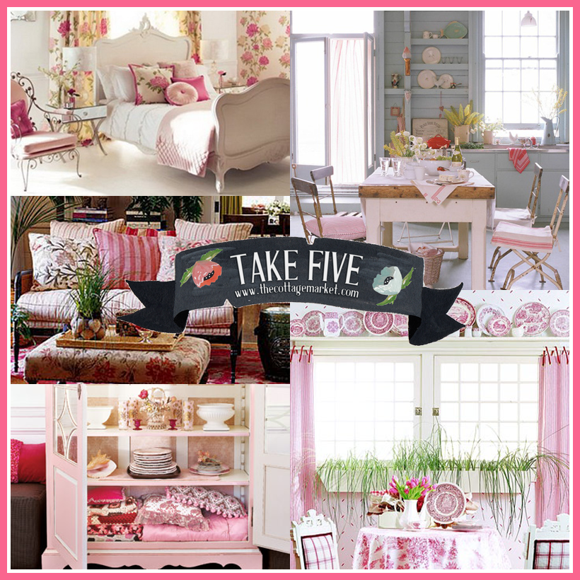 Take 5:  Decorating with Pink