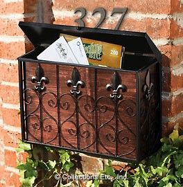 Vintage Copper Look Mailbox Vintage Mailbox Wall Mount Mailbox Mounted Mailbox
