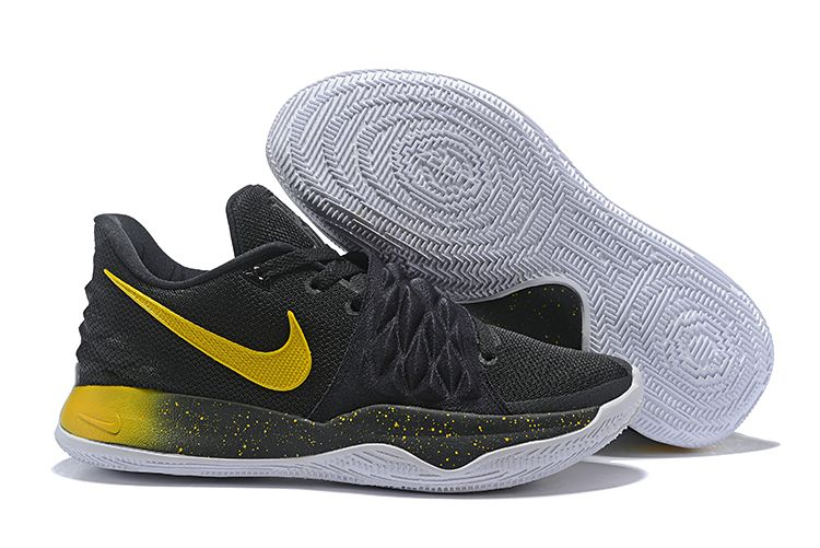 5caa2bfe188 Nike Kyrie 4 Low Black Yellow Men s Basketball Shoes