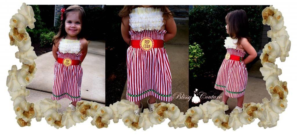 Popcorn Bucket Dress Halloween Costume by www.BlissyCouture.net