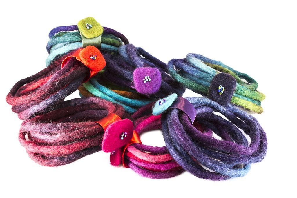 Filz Armbänder #filzen