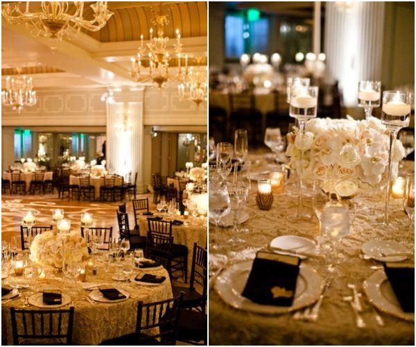 Black And Gold Wedding Reception Decorations: Grab Your #Wedding Guests' Attention With These Impressive