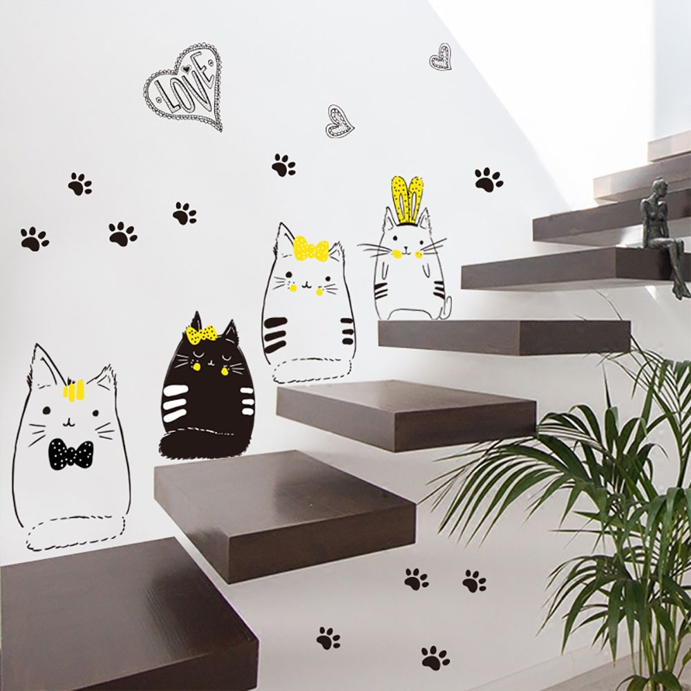 Cat Wall Decals Wall Decals For Living Room Wall Sticker Diy Wall Decals Wall Murals Diy Wall Stickers Living Room #sticker #for #living #room