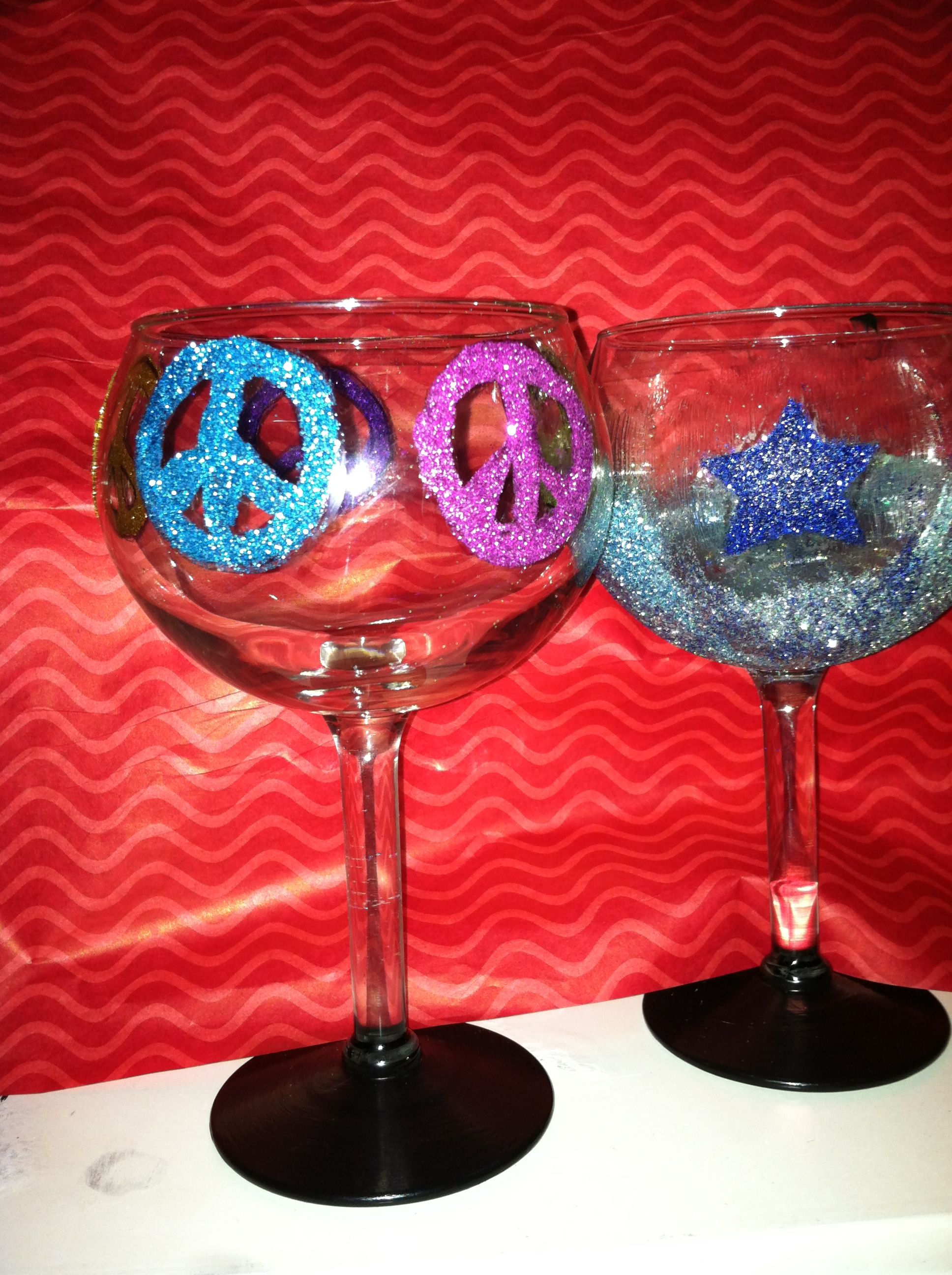 Glitter Chalkboard Wine Glasses Chalkboard Wine Glasses Wine Glasses Wine