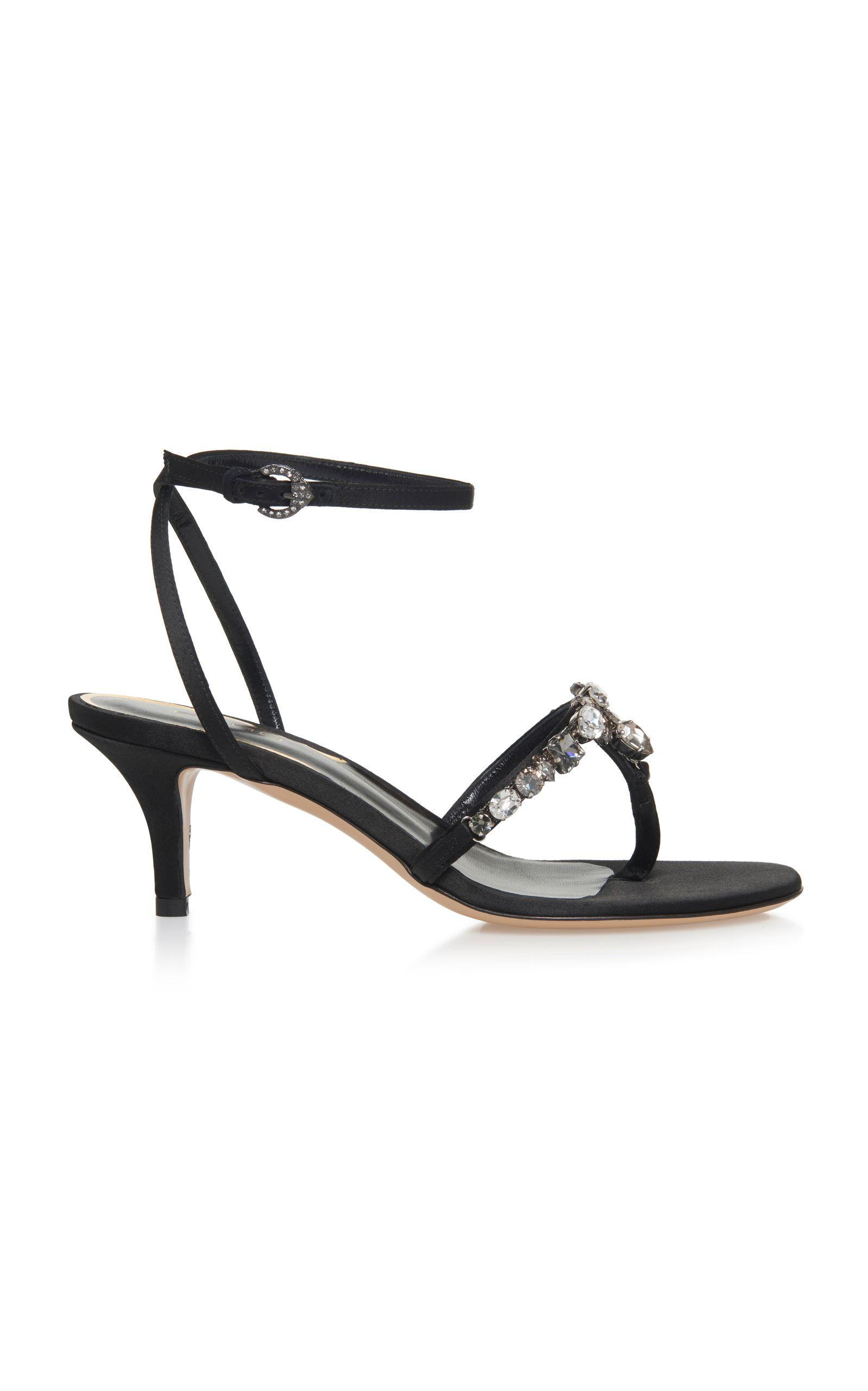 Embellished Kitten Heel Sandal In Black Kitten Heel Sandals Heels Kitten Heels