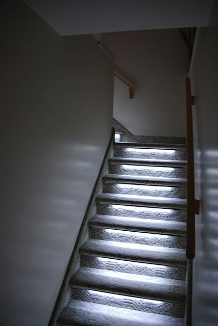 led stairway lighting. Gallery : Reactive Lighting, Automated LED Stair Lighting Controller  Solutions Led Stairway Lighting