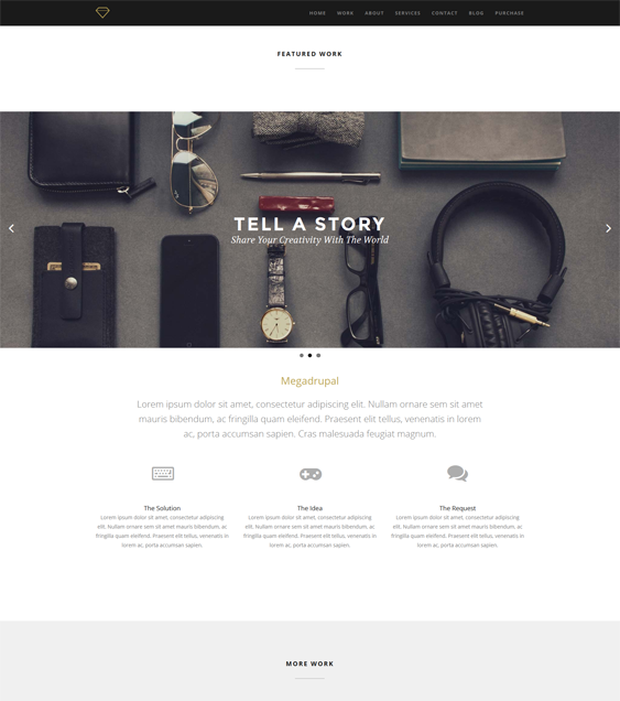 This parallax Drupal template includes retina ready icons, a ...
