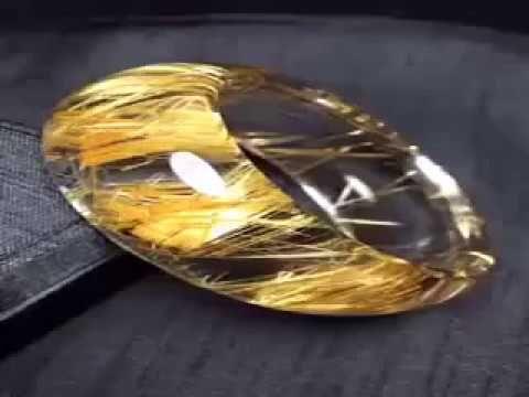 The best natural rutilated quartz bangle