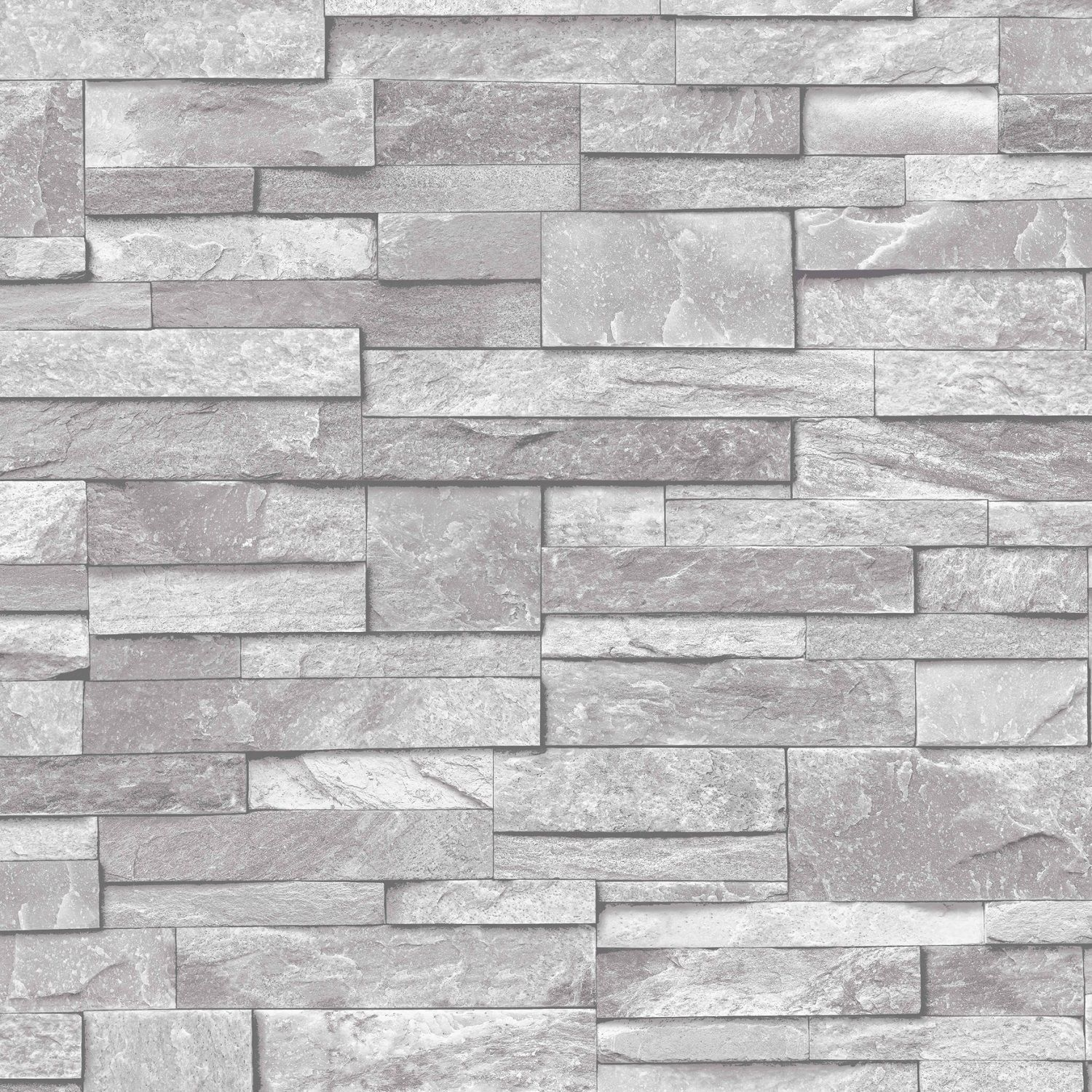 Brick Stone Accent Wall In Charcoal: Realistic Stone / Brick Wall Effect