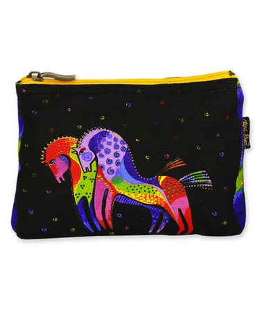 Look what I found on #zulily! Black & Rainbow Horses Cosmetic Bag #zulilyfinds