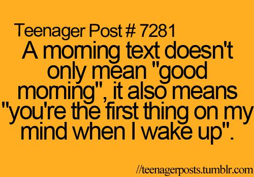 Good Morning Texts...