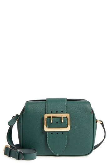 BURBERRY SMALL BUCKLE LEATHER CROSSBODY BAG - GREEN.  burberry  bags  shoulder  bags  leather  crossbody   4728f39709dc0