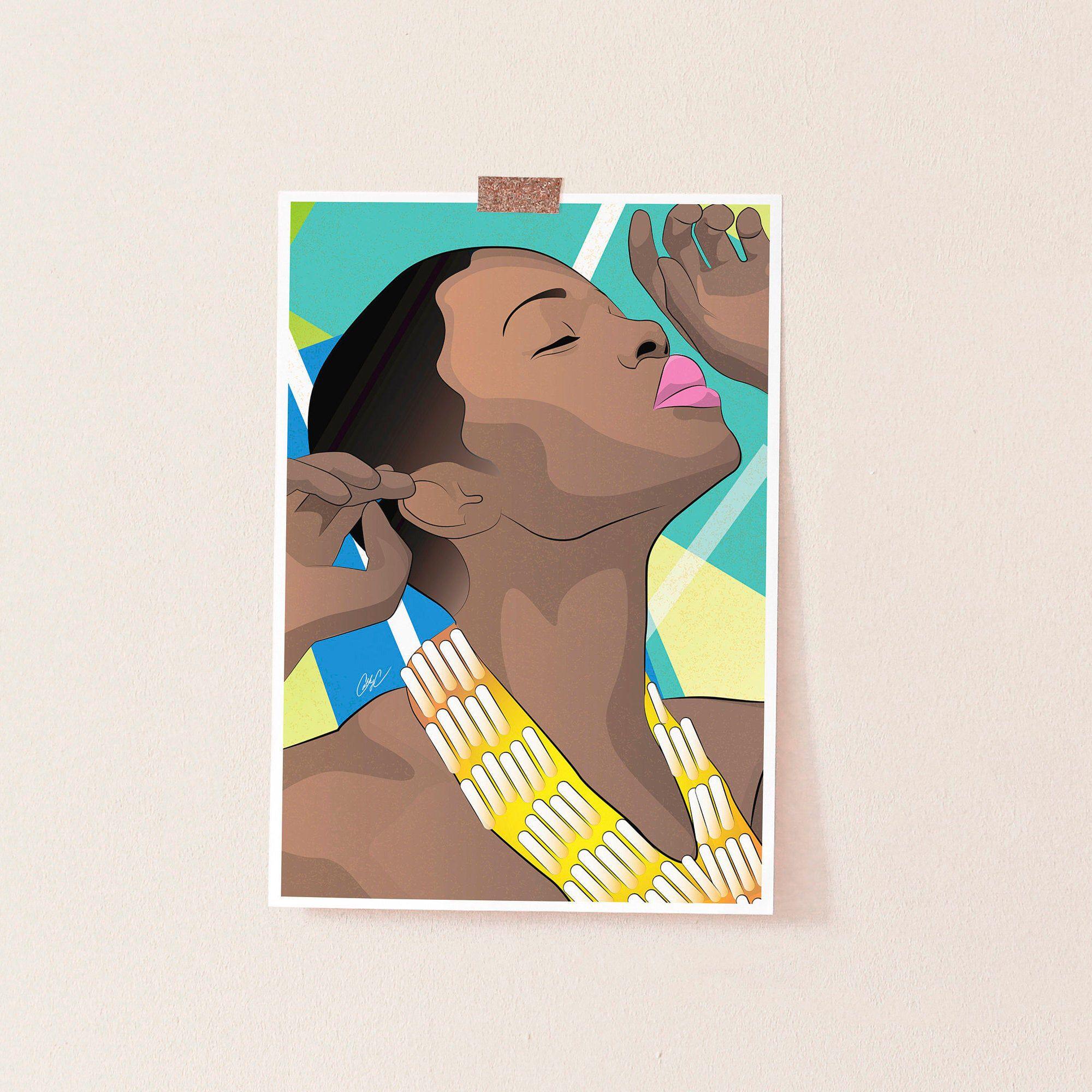 African Queen Black Queen African Art Black Girl Magic Wall Art Melanin Afro Art Natural Hair Art Wall Decor Afrocentric In 2020 African Art Afro Art Natural Hair Art