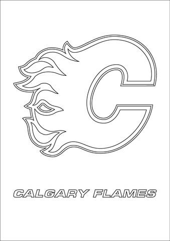Calgary Flames Logo Coloring Page Free Printable Coloring Pages Sports Coloring Pages Calgary Flames Coloring Pages