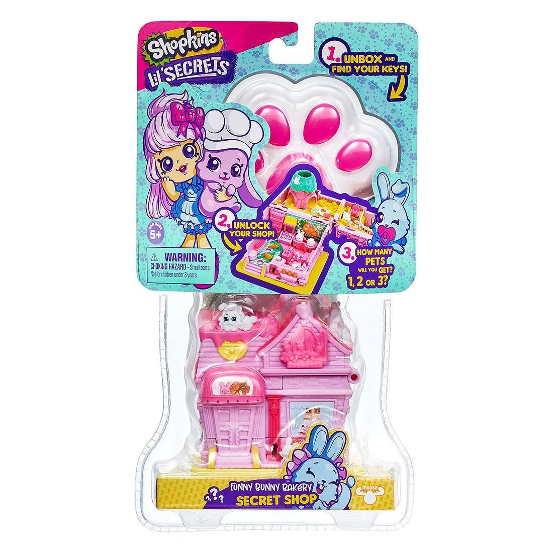 Shopkins Lil' Secrets Pets Playset Assorted in 2020 Pets
