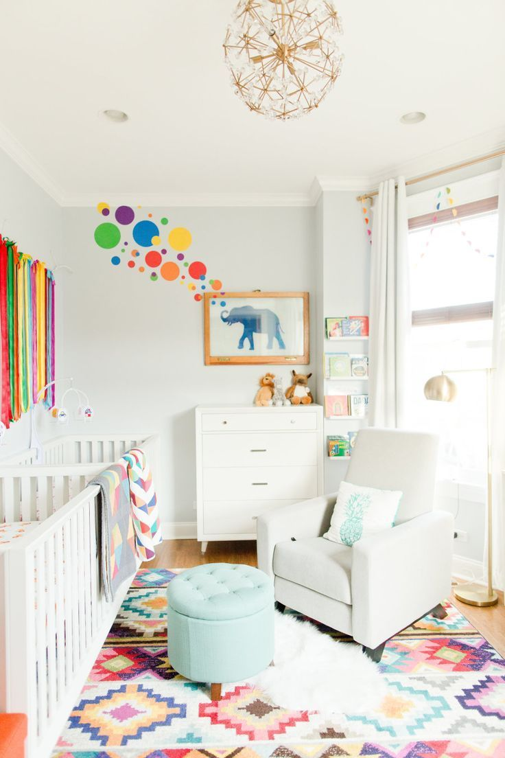 A Colorful Twin Nursery Inspired by a Vacation in South Africa Children's room