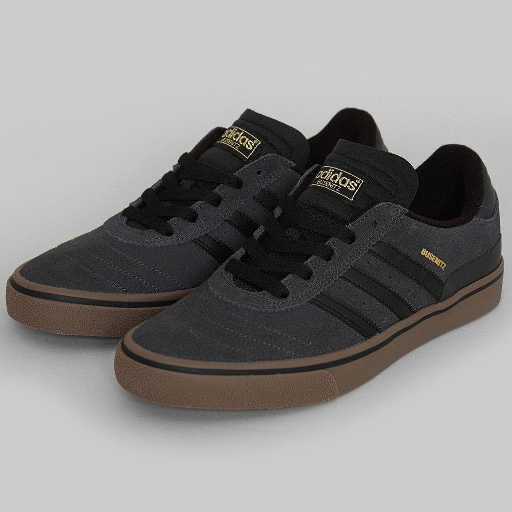 adidas busenitz vulc all black skate shoes