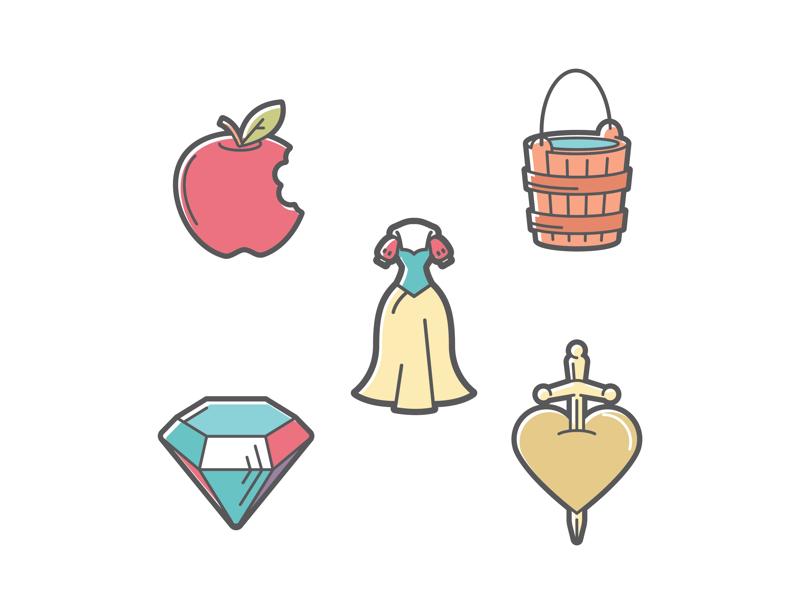 Snow White Icon Set Snow White Icon Set Icon Set Design