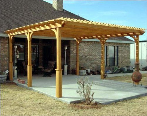 10 X 16 Treated Pine 2 Beam Pergola With Stain Amazon Patio Lawn Amp Garden Free Standing Pergola Plans Pergola Plans Outdoor Pergola