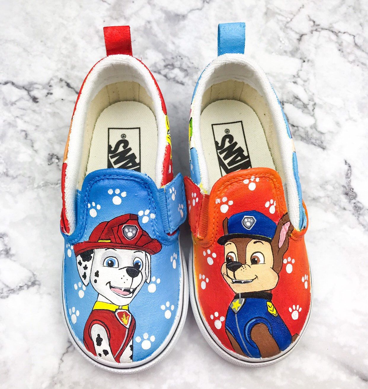 Paw Patrol Painted Shoes   Etsy   Paw