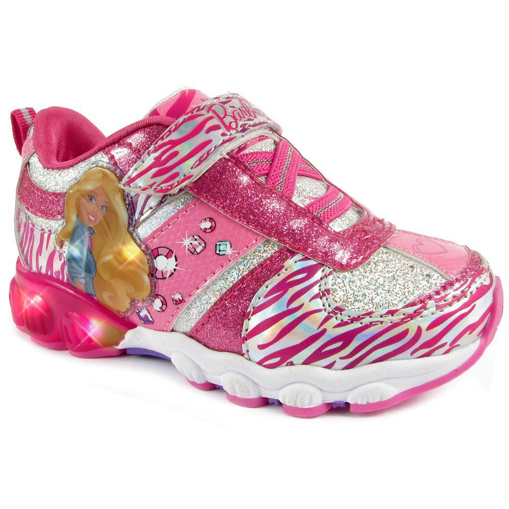 Sizes 6-12 Disney Frozen Girls/' Light-Up Sneakers Featuring Anna /& Elsa