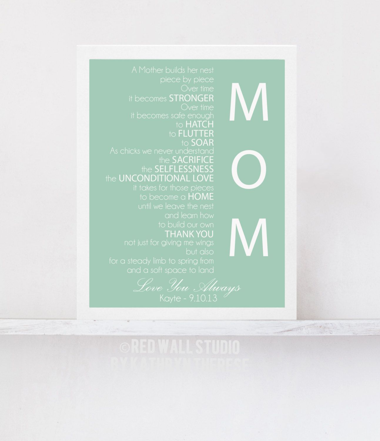Thank You Letter For You Mom Inspire Pinterest