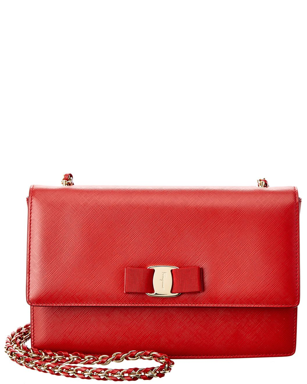 2d9f4d0e238c20 You need to see this Salvatore Ferragamo Ginny Medium Vara Leather Flap Bag  on Rue La