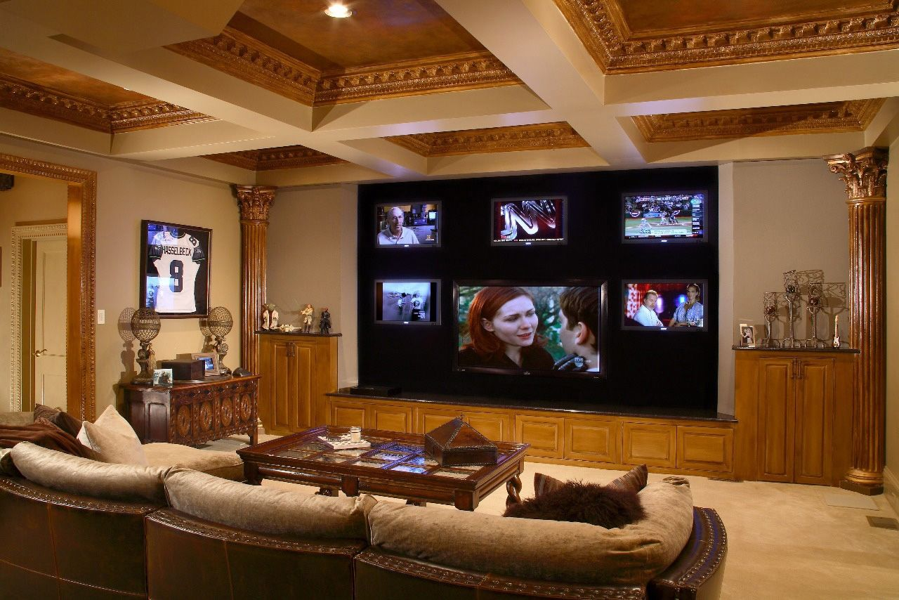 Cool Big Screen Tv Cabinets Ornament Marble Floor Modern Furniture Living Room Theaters Home Theater Rooms Home Theater Seating