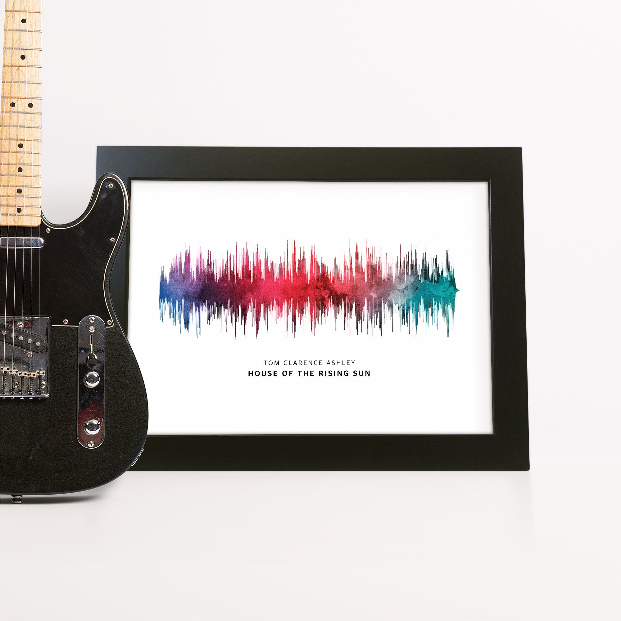 Sound Wave Print Gift for Dad Personalised Boyfriend Song