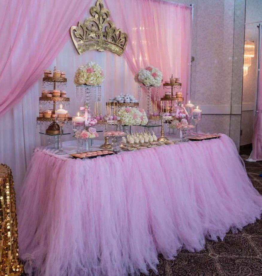 Mesa corona fiestas en 2019 fiesta de princesas - Fiestas de cumpleanos de princesas ...