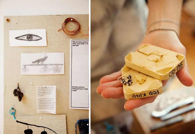 Ring mold. Jewelry designer's studio of Odette NY. (via themakersproject.com)