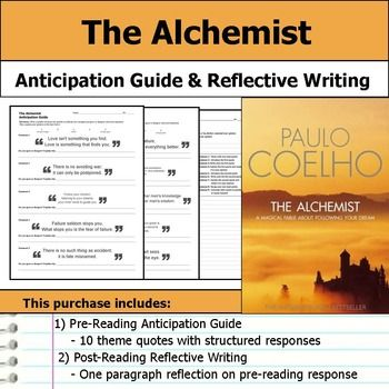 reflective essay on the alchemist 243: book reflections| the alchemist by paulo coelho by : leigh  along the  way he meets the alchemist  649 book reflection – predictably irrational: the  hidden forces that shape our decisions by dan ariely.